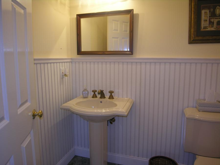 covering a tile wall with a beadboard wainscot timu workshop source