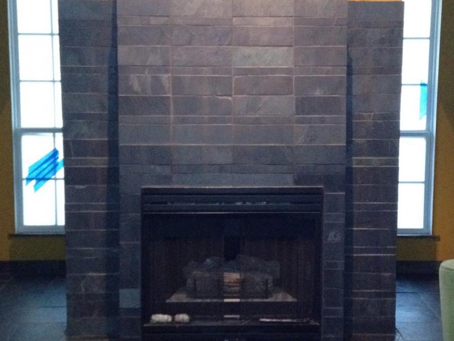 slate fireplace design photos