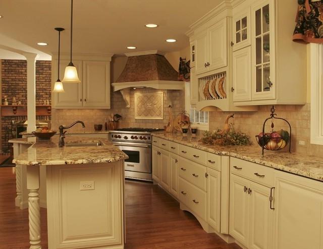 Faux Wood Wall Kitchen