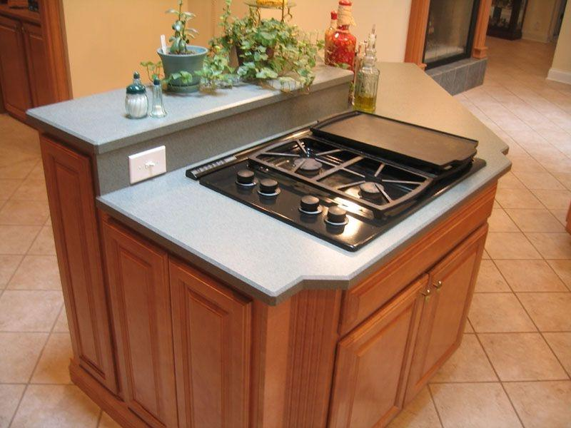 Kitchen Island With Cooktop Electric ~ Kitchen island stove top photos