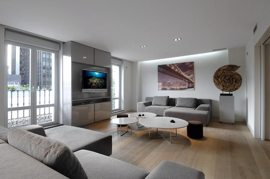 Classic White Urban Apartment Interior Design