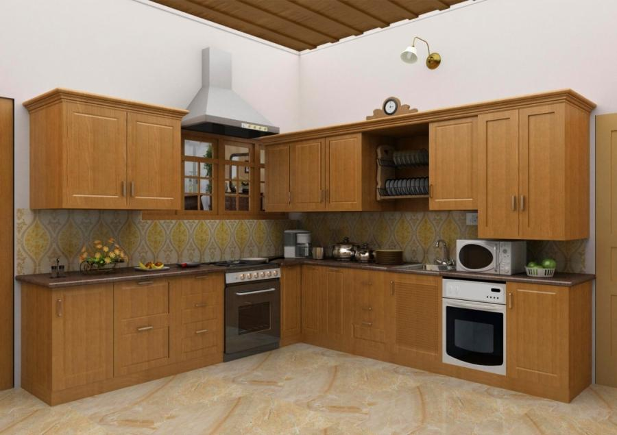 Indian kitchen interiors photos for Simple kitchen designs for indian homes