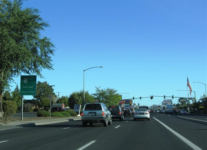 U.S. 2  395 follows the one-way couplet of Ruby Street (north)...