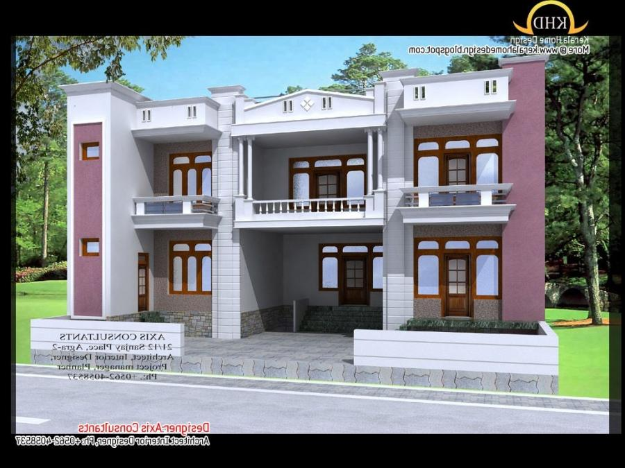 Photo gallery of front elevation of indian houses for Indian house elevation photo gallery