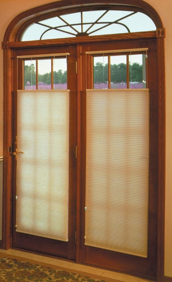 French doors cellular shades 183x300 Window Treatment Ideas For...