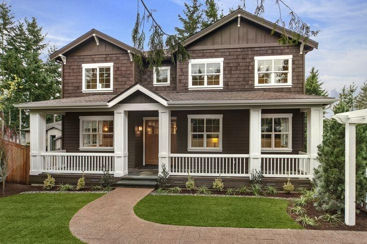 Photos houses brown trim - Brown house with white trim ...