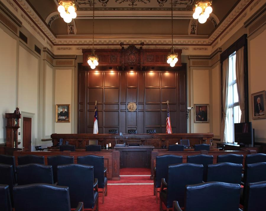 Inside the courtroom at the Court of Appeals.