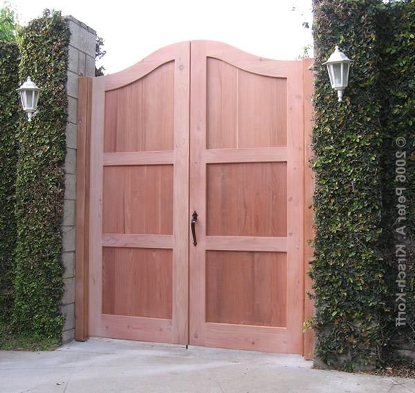 Los Angeles Wood Entry Gates - Mediterranean Villa Style and...
