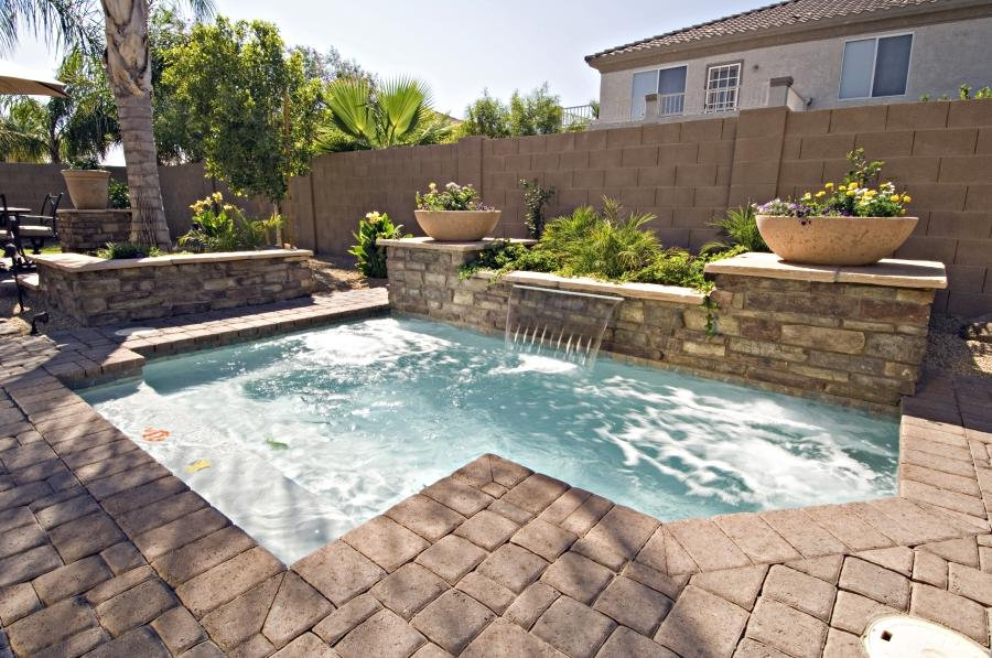 Inground pool decoration photos for Common pool design xword