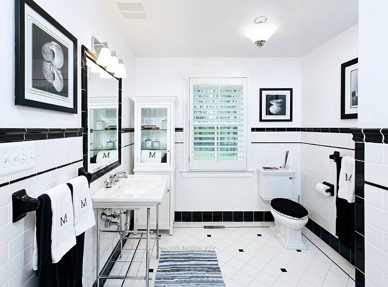 Black and white bathrooms photos for Bathroom ideas victoria bc
