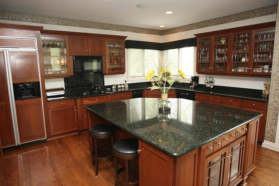 Cherry Kitchen Cabinets With Hardwood Floors
