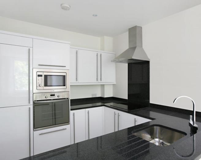 White and black kitchen photos for Kitchen ideas rightmove