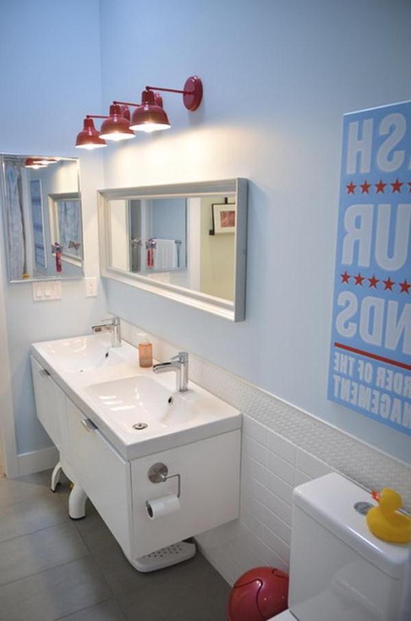 Houston bathroom photos for Bright coloured bathroom accessories