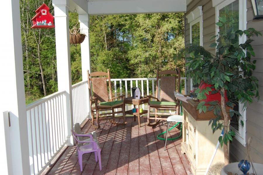 Front Porch, : Comely Front Porch Design Ideas Using White Wood...