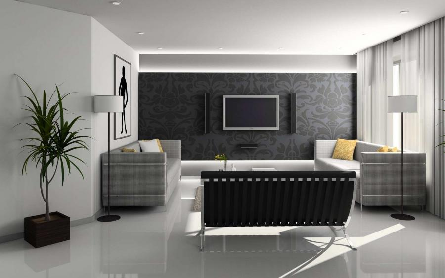 White Luxury Living Room HOme Inter black and white living room...
