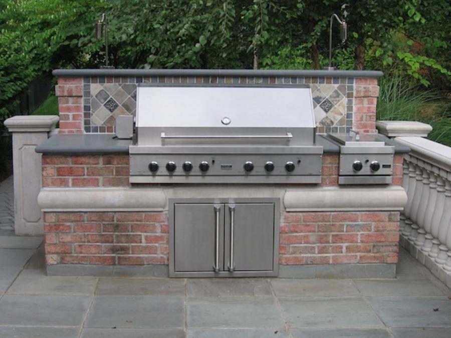 Outdoor brick barbeque photos for Outdoor kitchen designs nj