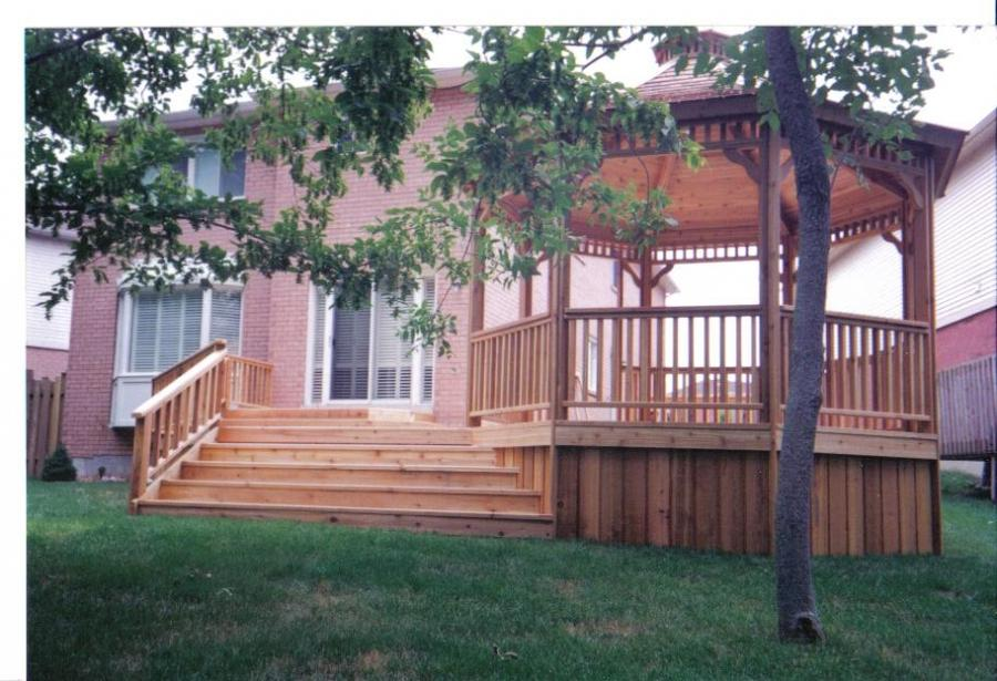 Photos of decks with gazebos for Decks and gazebos