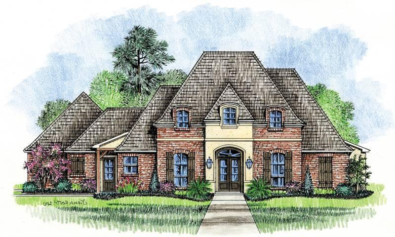 French country house plans photos for Home plans louisiana
