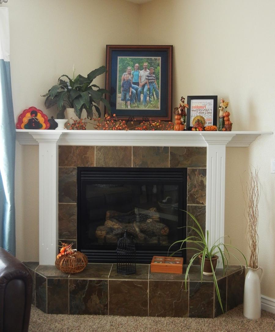 Decorating a corner fireplace photos