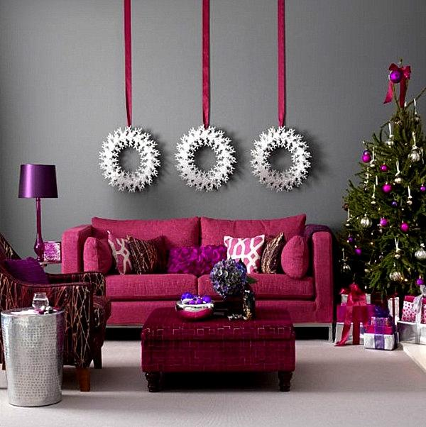 Jewel-toned modern Christmas decorations