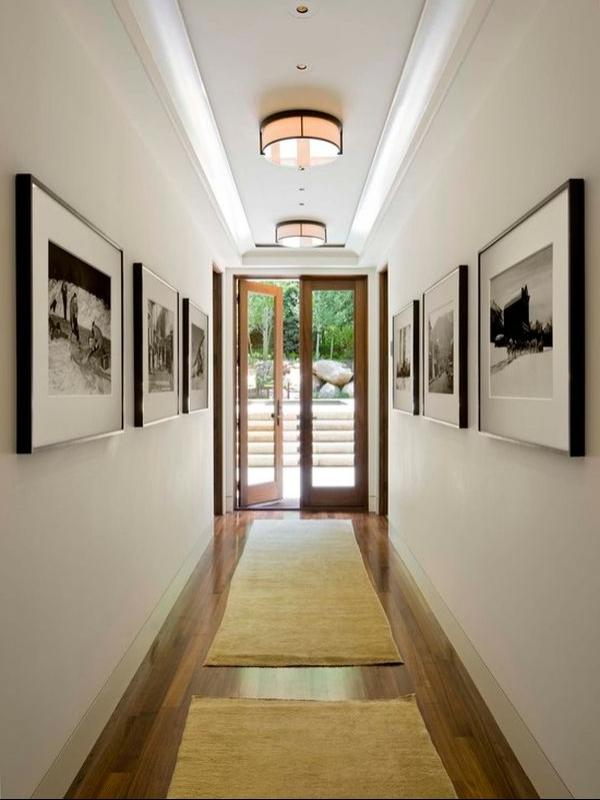 The hallway is an enclosed space that usually has no windows. Itu...