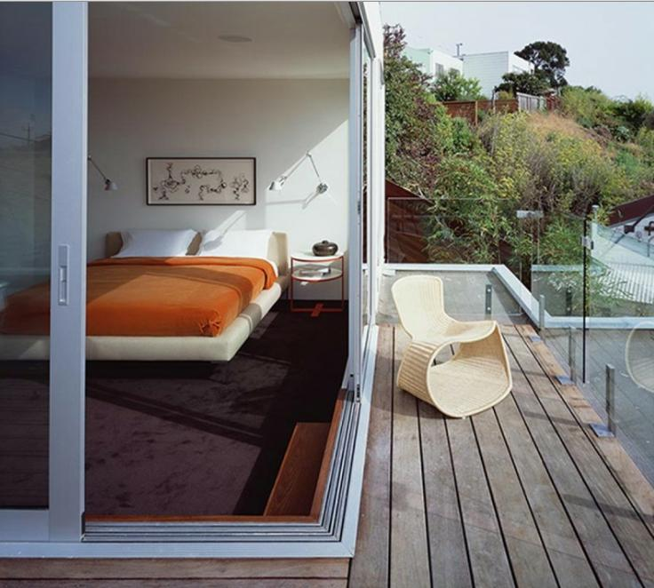 Modern Balcony Design with Wooden Floor