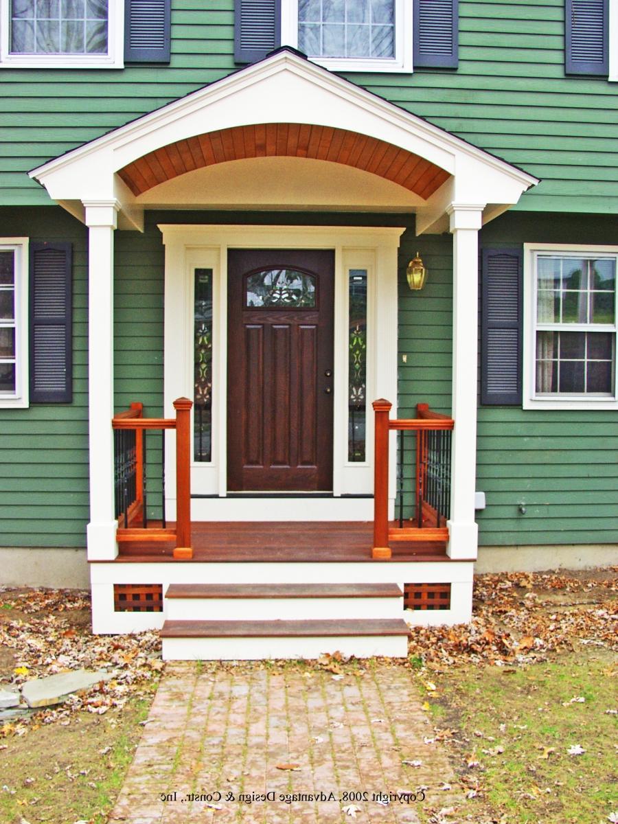 Крыльцо для дома фото деревянные 25