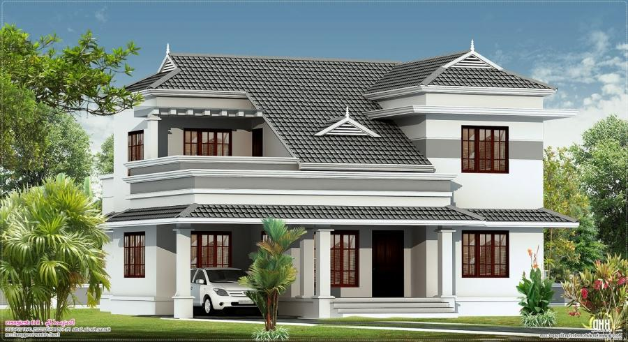 Kerala model new houses photos for New model house photos