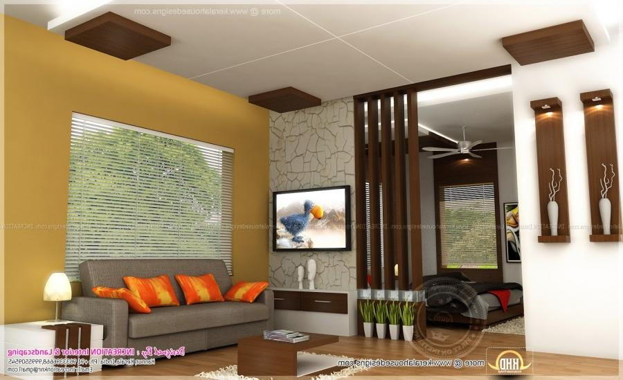 Kerala houses interior design photos for Living room interior designs kerala