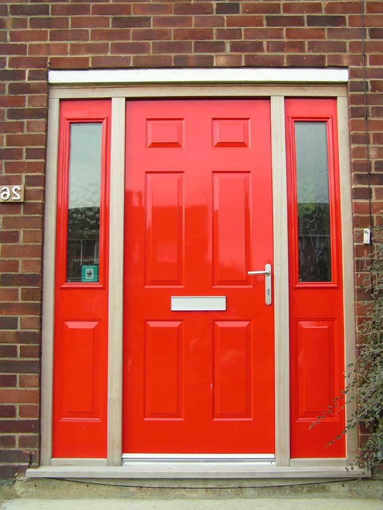 Images Of Front Doors With Wooden Door And Chic Paint Color And...