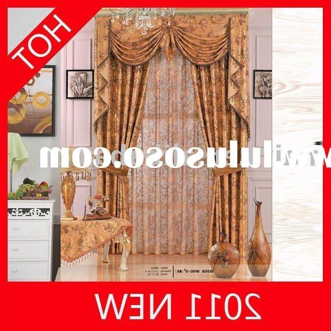 2011 New American Curtain Designs for good quality