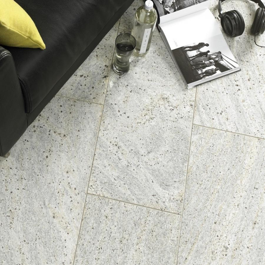 White granite tiles flooring