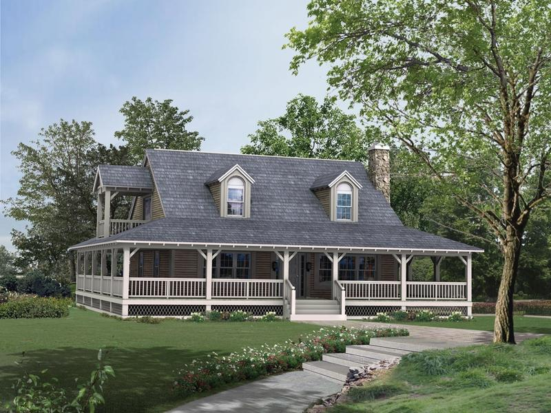 Square House Plans With Wrap Around Porch