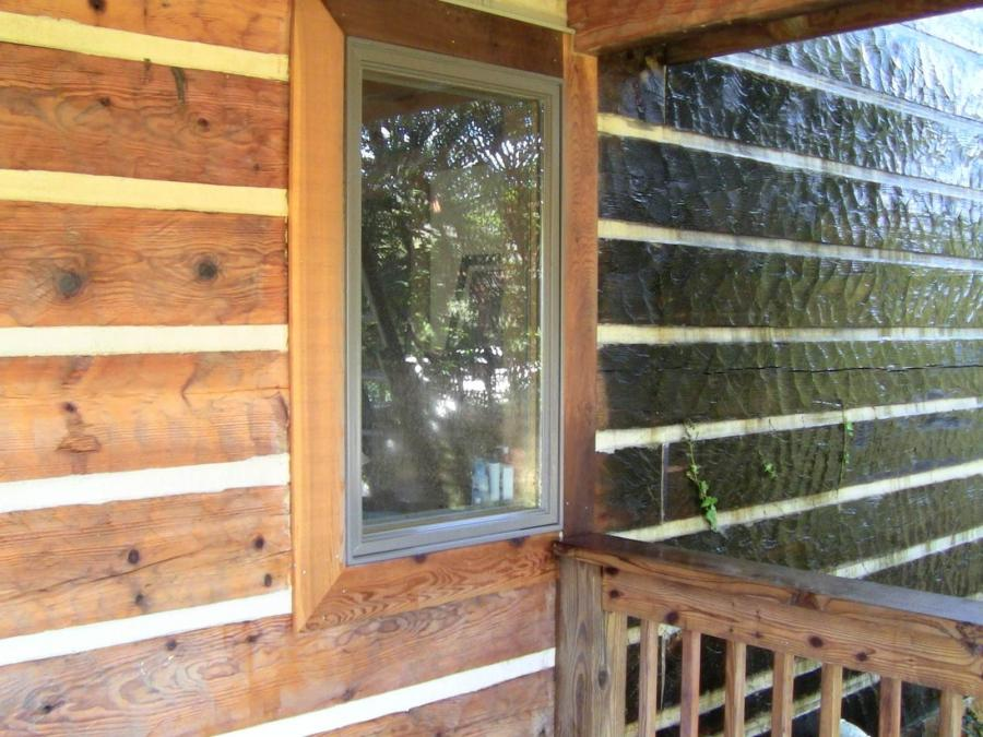 Log cabin siding photo gallery 100 mountaineer log cabins for Log house siding options