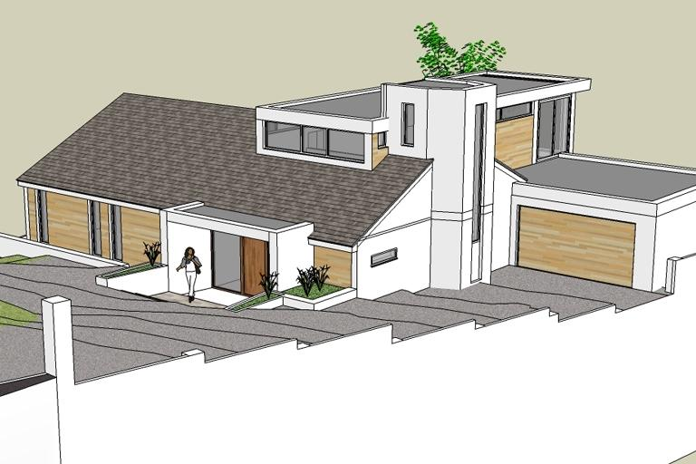 Contemporary Modern House, Torquay, Devon - Front Elevation