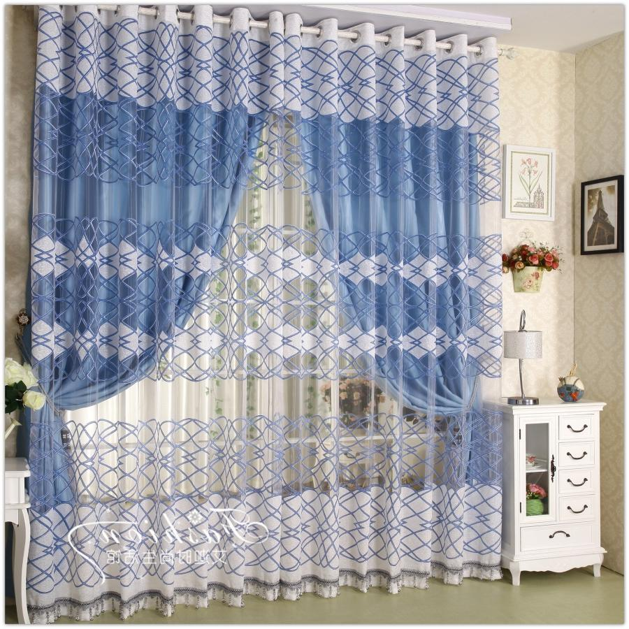 Popular Simplistic White Curtains Double Slice Bedroom Curtains...