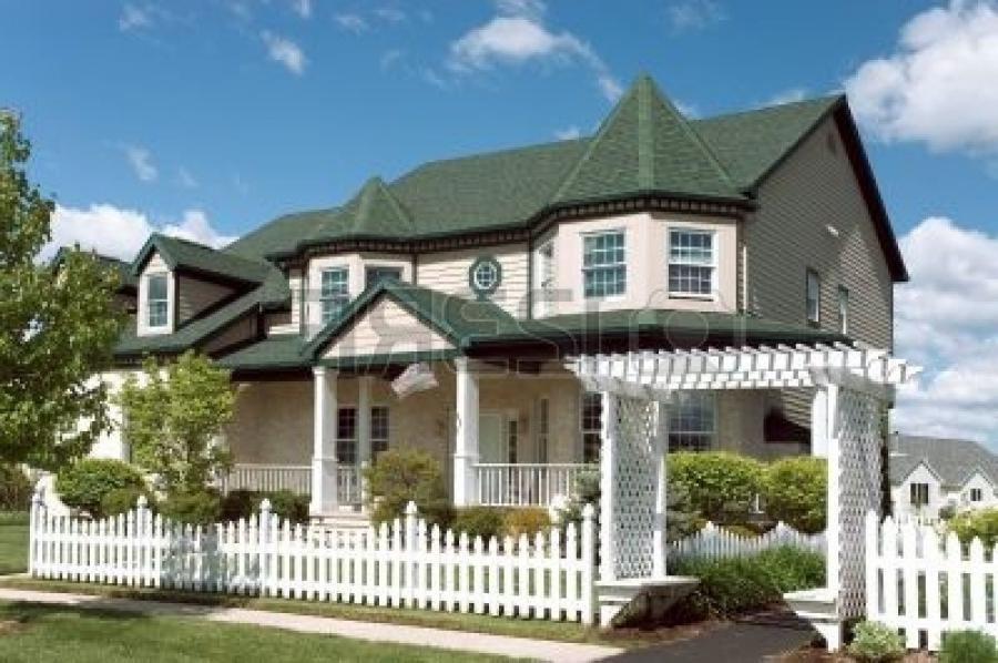 New home with a Victorian flavor architecture. Just one of many...