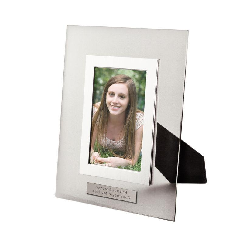 clear glass photo frames with silver accents 4x6