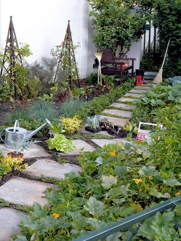 French garden design photos