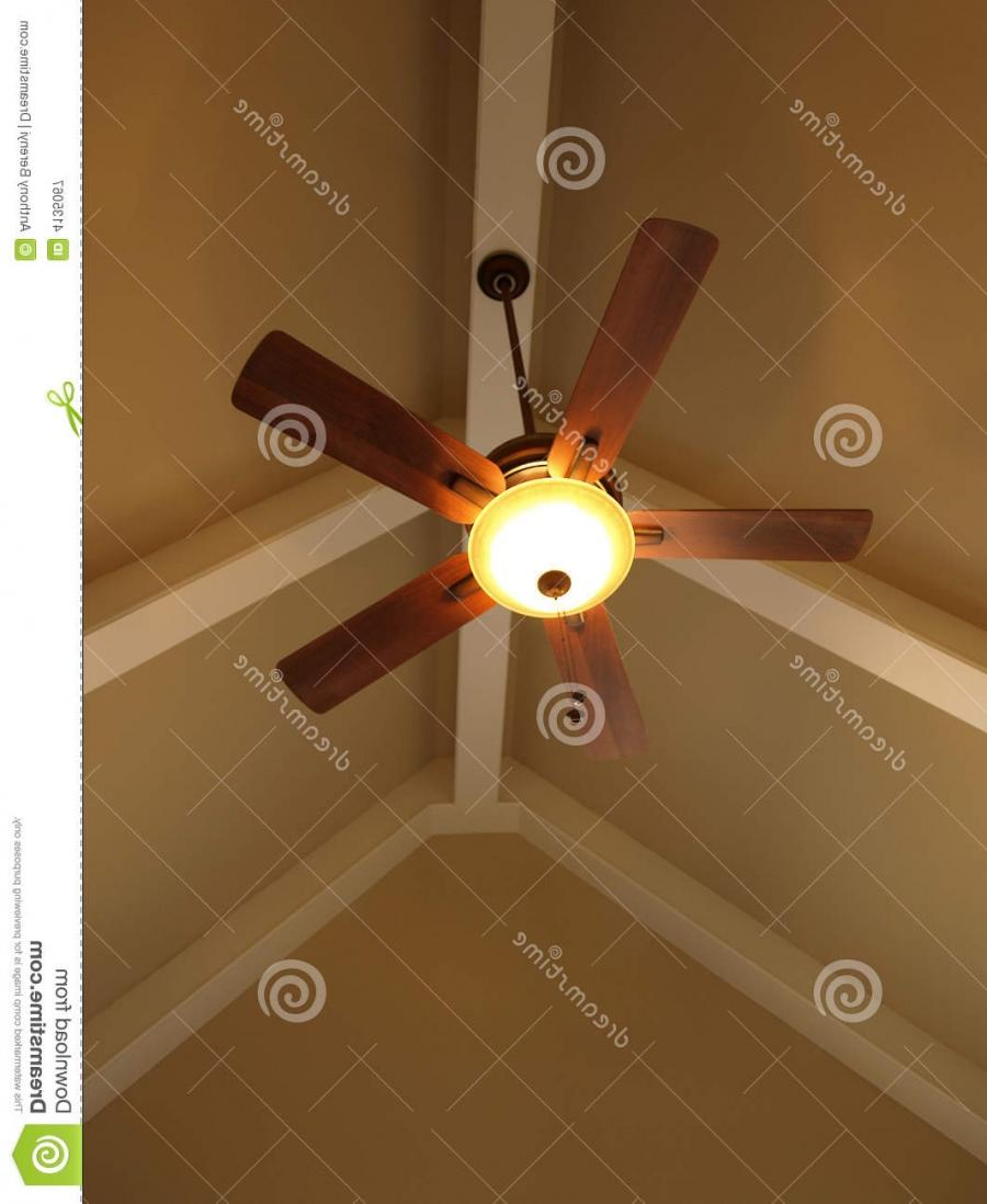 Ceiling Fan in Vaulted Ceiling
