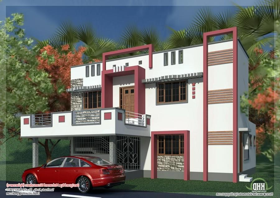 south indian model minimalist 1050 sq ft house exterior design