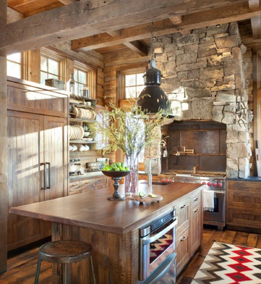 Rustic Cabin Living Room: Small Cabin Kitchen Photos