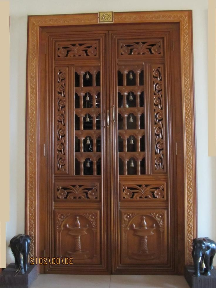 Latest pooja room doors designs joy studio design for Latest door design for home