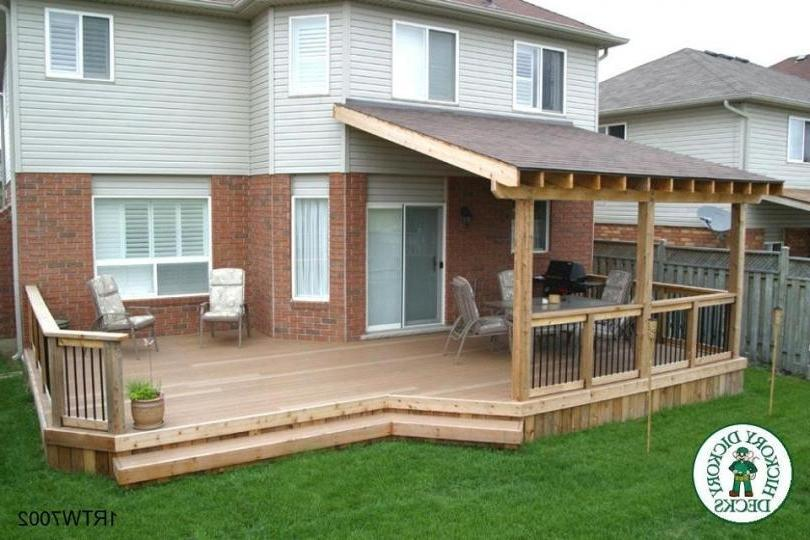 Photos of roof over deck for Deck roof plans