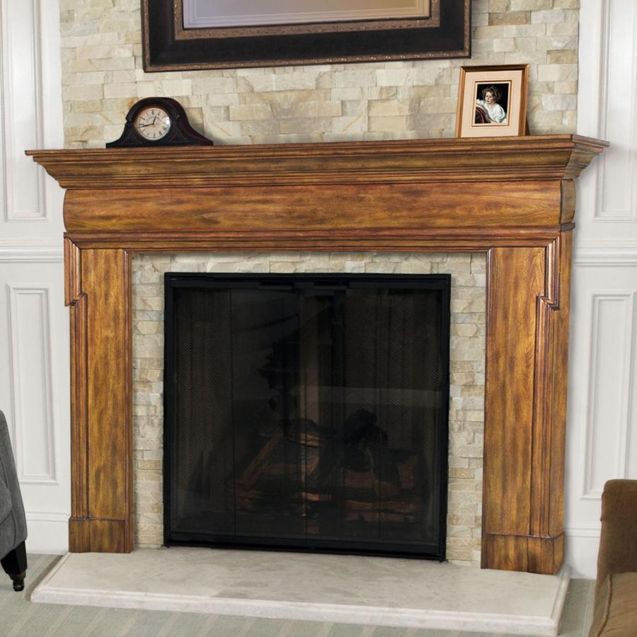 Wood fireplace mantel photos for Wood fireplace surround designs