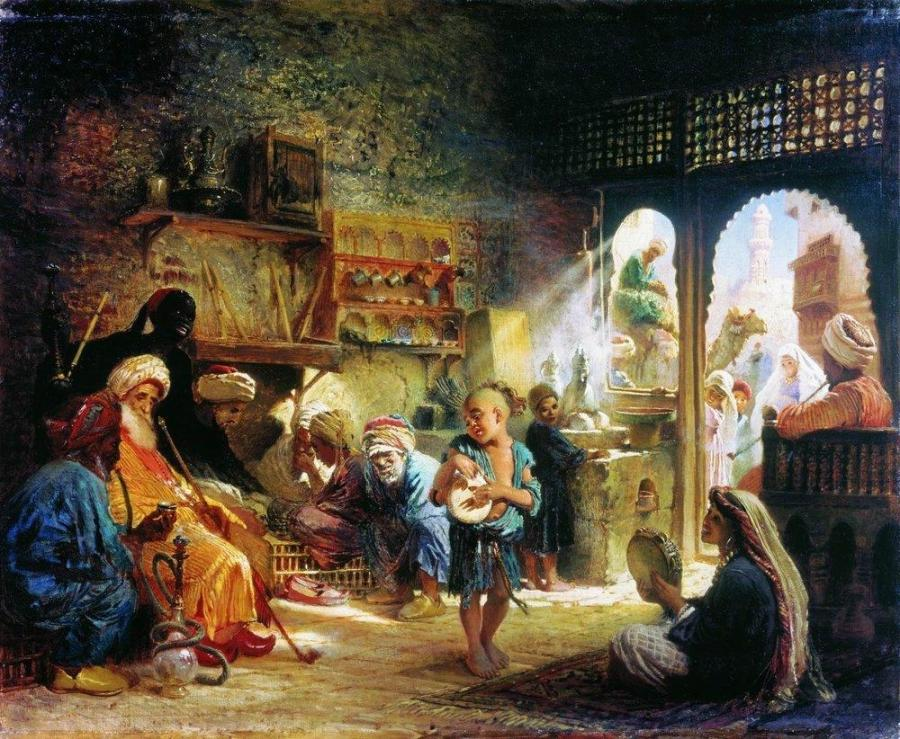 Coffee House in Cairo - Konstantin Makovsky