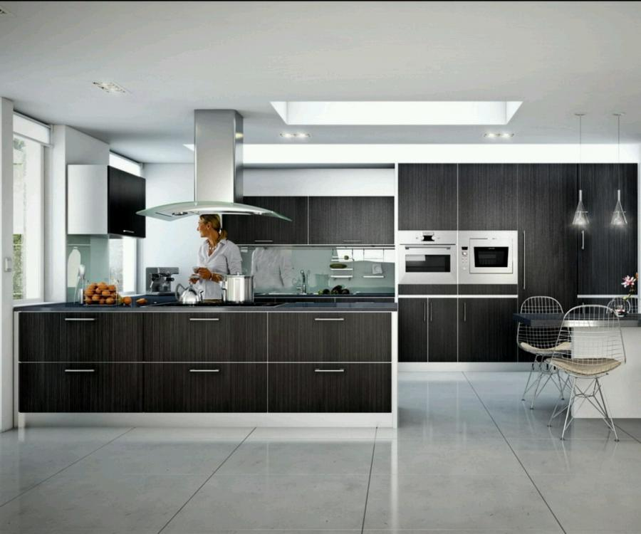 Contemporary design gallery kitchen photo for Small contemporary kitchen designs