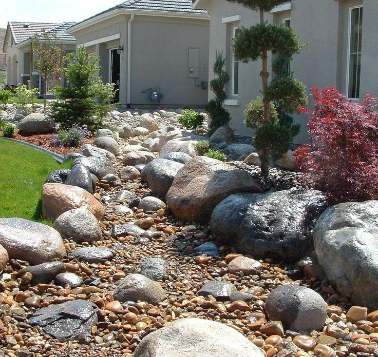 Landscaping With River Rock Dry River Rock Garden Ideas: Dry River Bed Landscape Photos