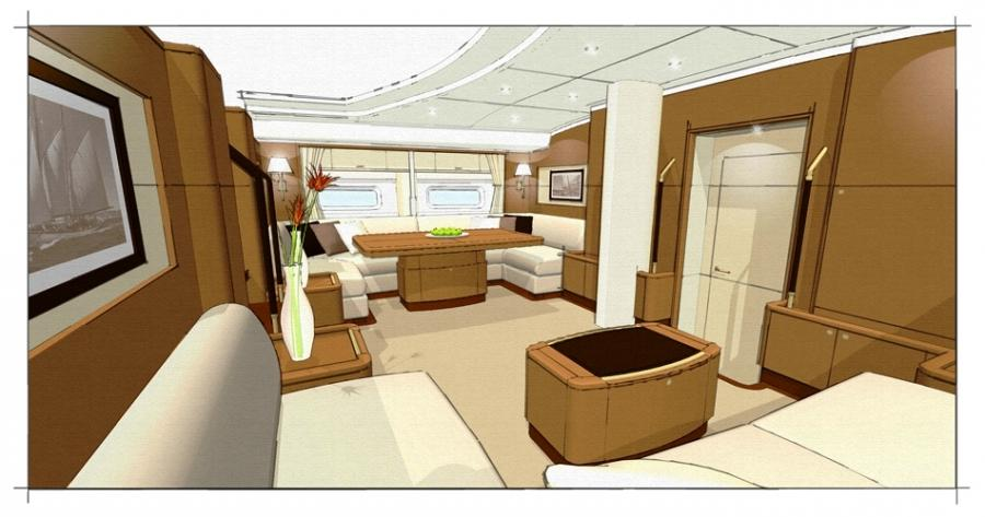 interior photos of sailboats