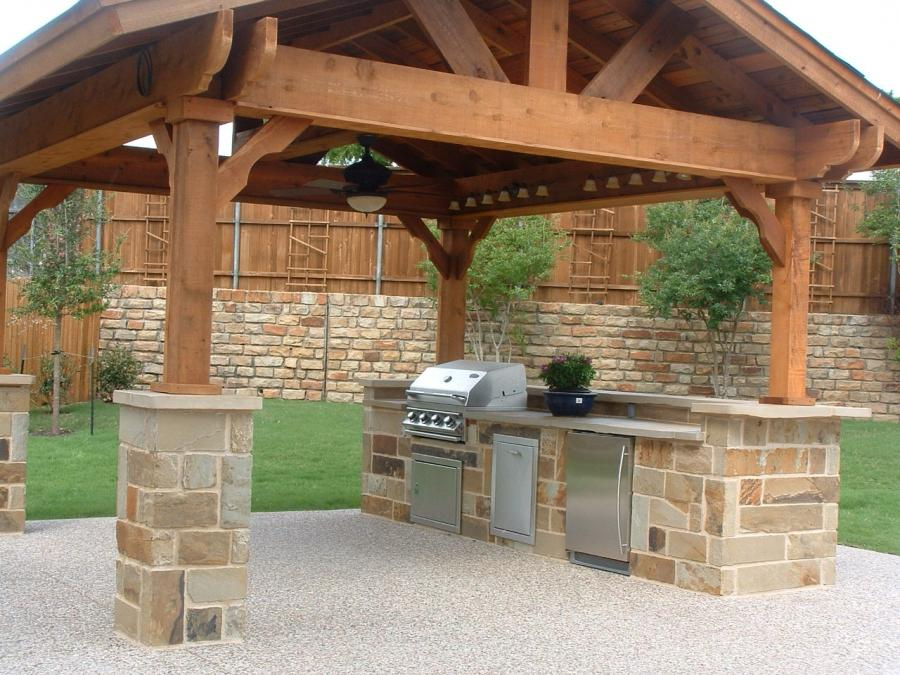 Photos outdoor kitchen layout for Outdoor kitchen floor plans